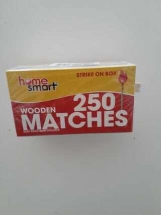 Wooden 250 Matches 2 pk
