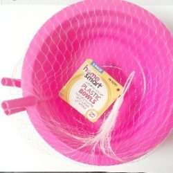 Plastic Bowls With Straw 3 Pack