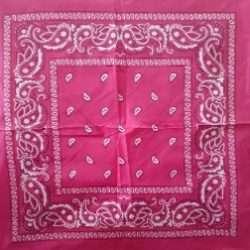 """Paisley Bandana Hot Pink 21.5""""x21.5"""""""