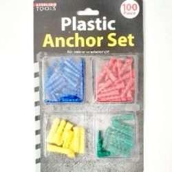 Plastic Anchor Set 100 Count